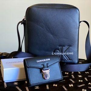 Calvin Klein Messenger Bag and Card Holder Combo